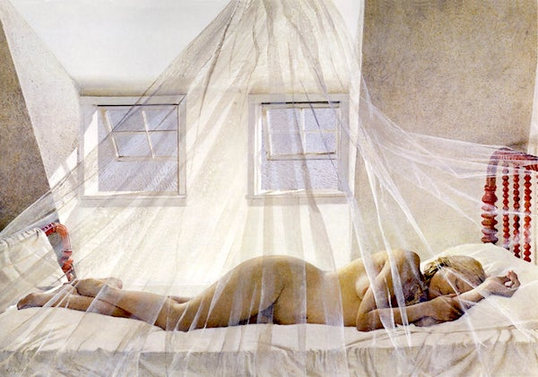 """""""Day Dream,"""" by Andrew Wyeth (1980)."""