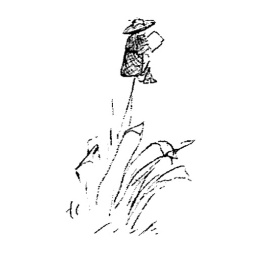 Poet atop petard. (Drawing by Edward Lear.)