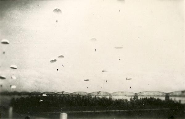 Iconic image: Fallschirmjäger assault on the Moerdijk rail bridge, May 10, 1940.