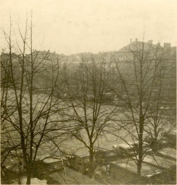 Wagenpark im Aachen 9 May 1940.