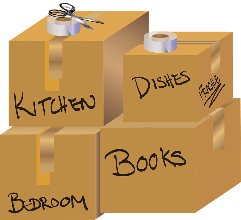 Boxes Labelled Before Moving