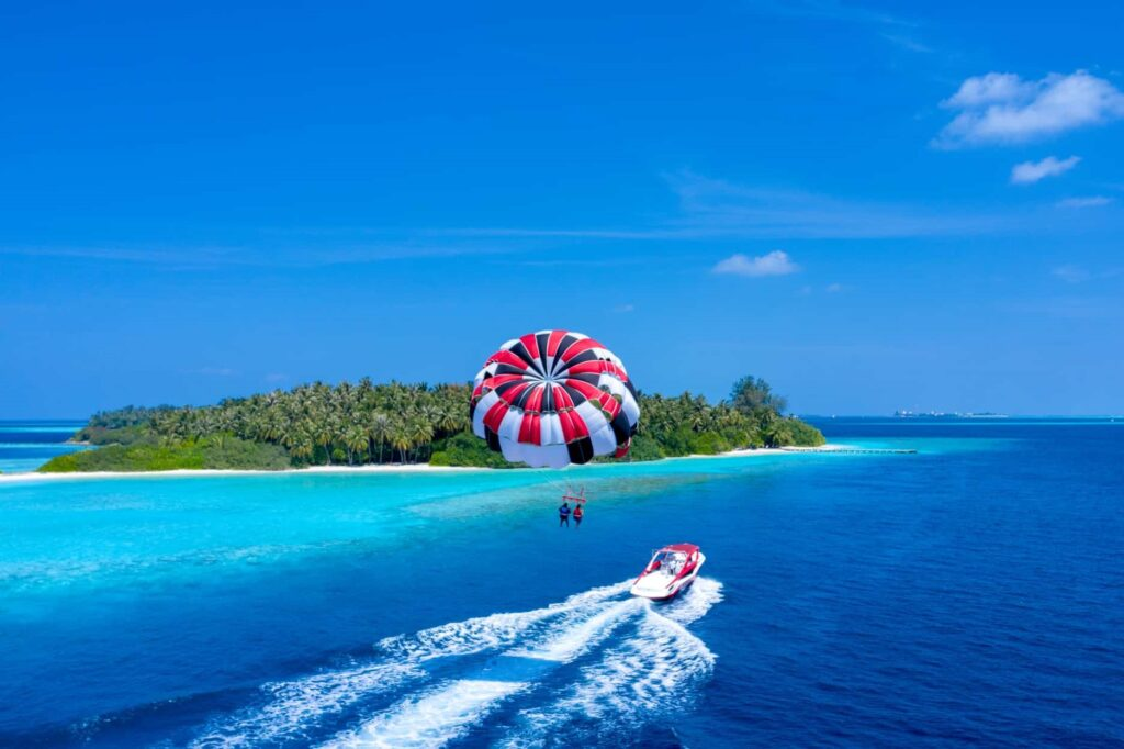 Parasailing in the Sun