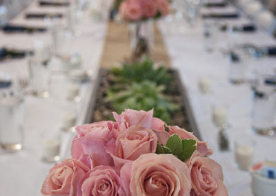 Reception Table Setting catered by Cafe Coco
