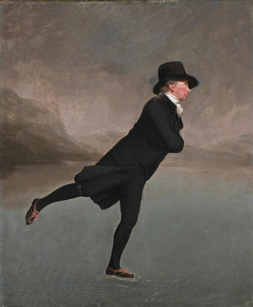 The skating Minister. Reverend Robert Walker (1755 - 1808) skating on Duddingston Loch *oil on canvas *76.2 x 63.5 cm *circa 1795
