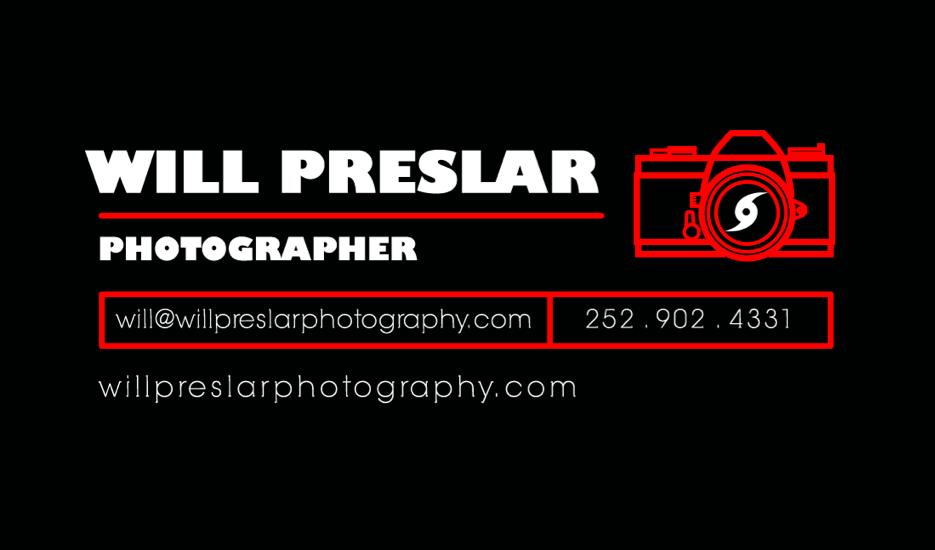Will Preslar Photography Branding
