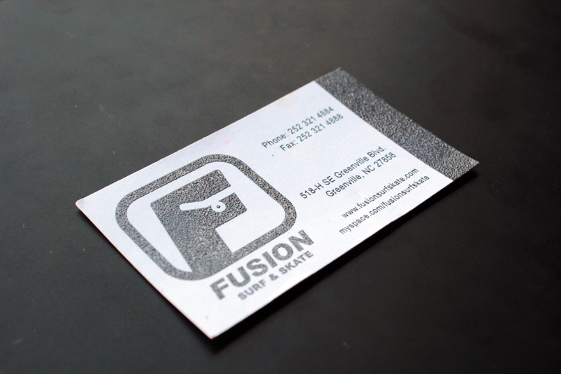 Fusion Surf & Skate Business Card