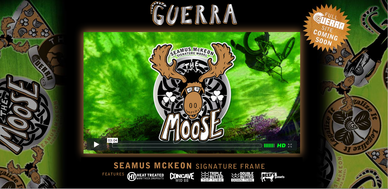 Guerra 'Moose' Frame Mini Website