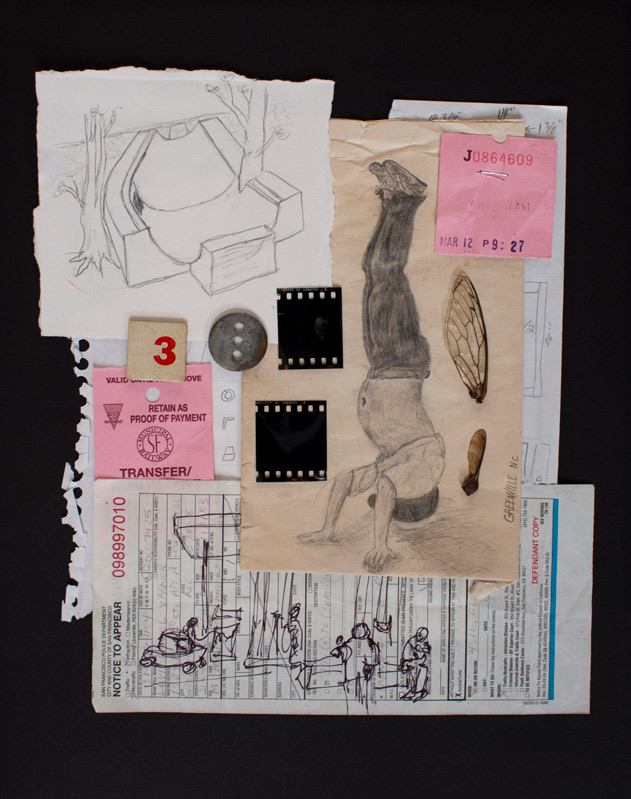 Sketch/Found Object Collage #1