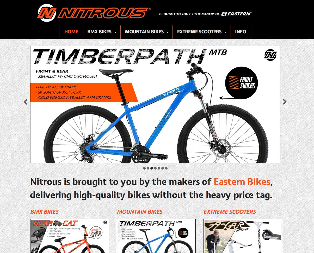 Nitrous Bikes Website