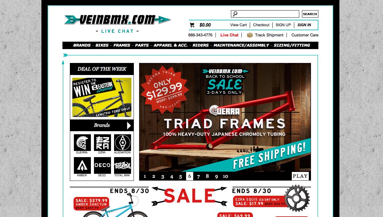 Vein BMX Website