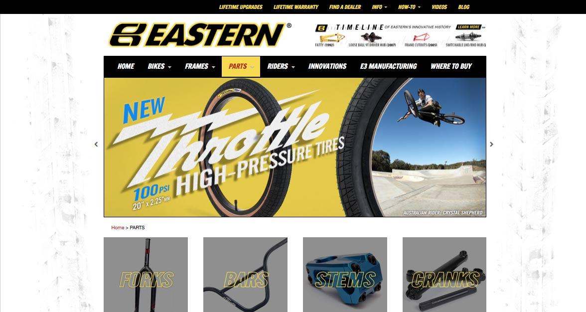 2013 Eastern Website Redesign