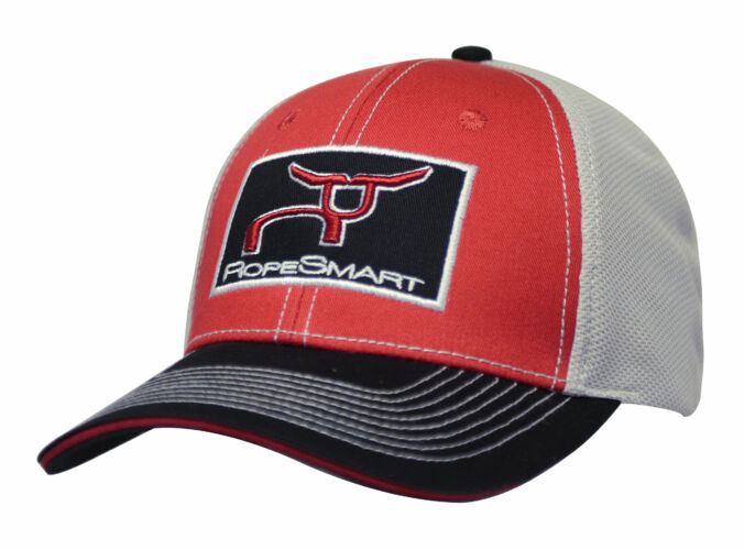 RS Red & Gray, Black Patch Snapback