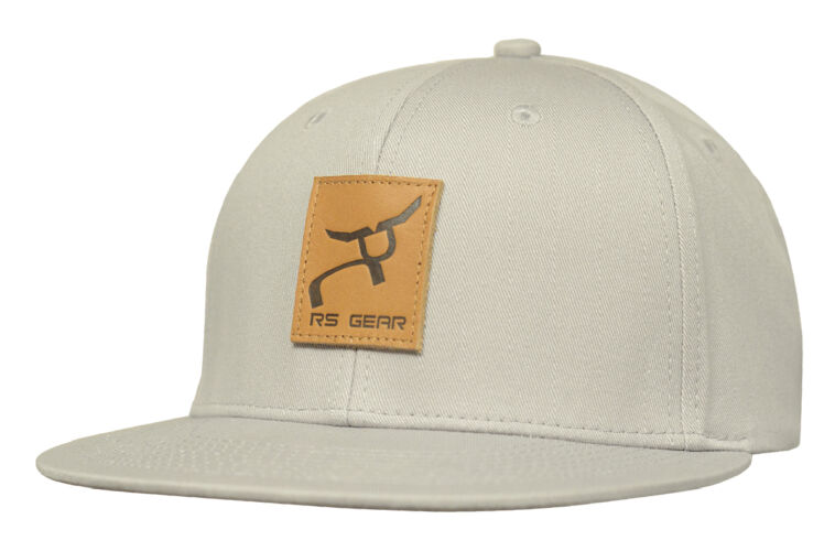 RS Gear Leather Patch Gray Flatbill Snapback