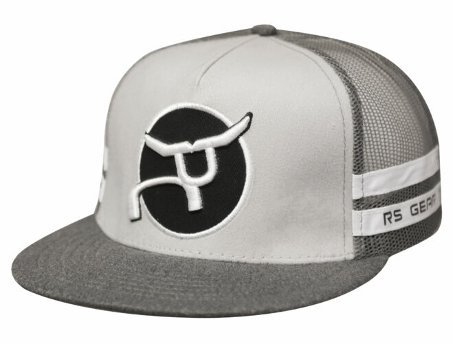 RS Classic Trucker Gray with Round Patch Snapback