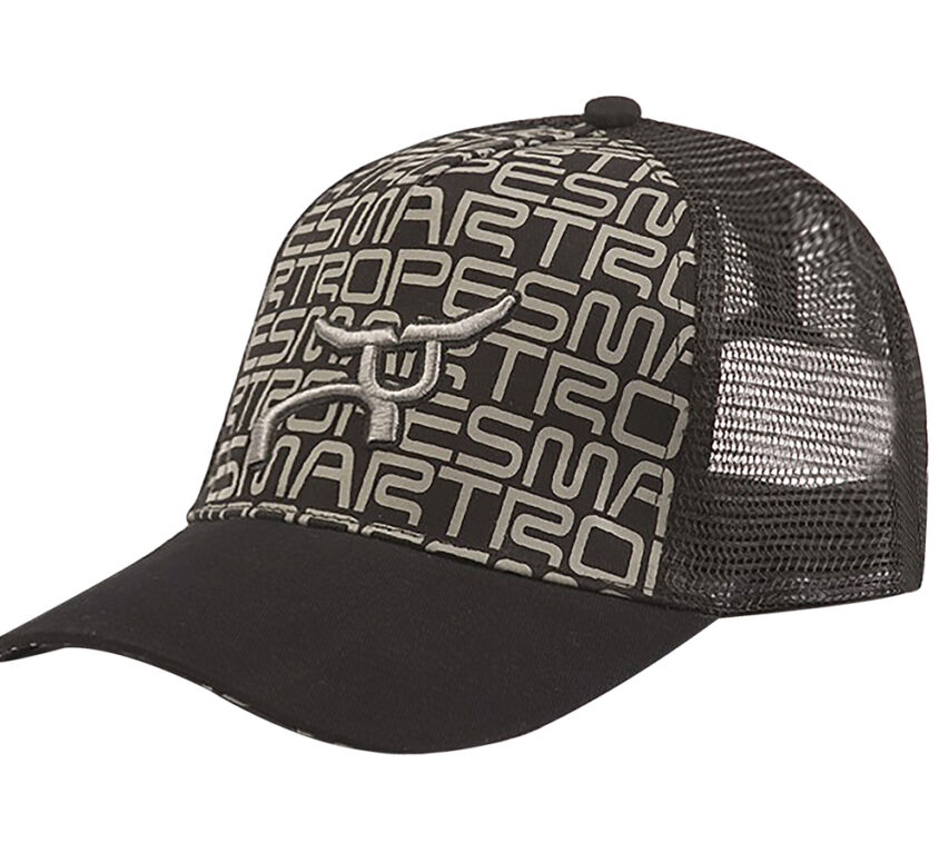 RS Youth Steer Trucker Black & Grey Snapback Cap