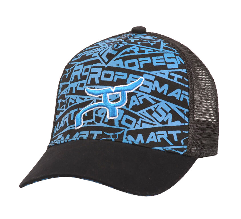 RS Youth Steer Black & Blue Trucker Snapback Cap