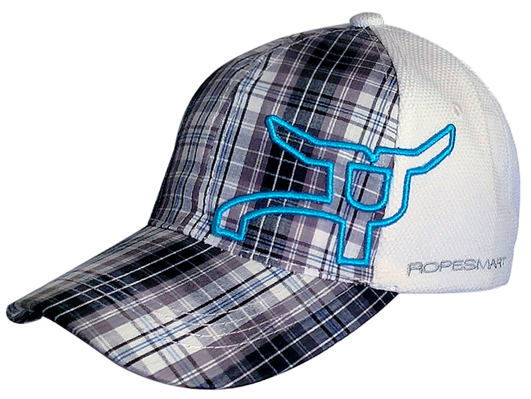 Plaid Snapback Cap w/ Side RopeSmart Logo