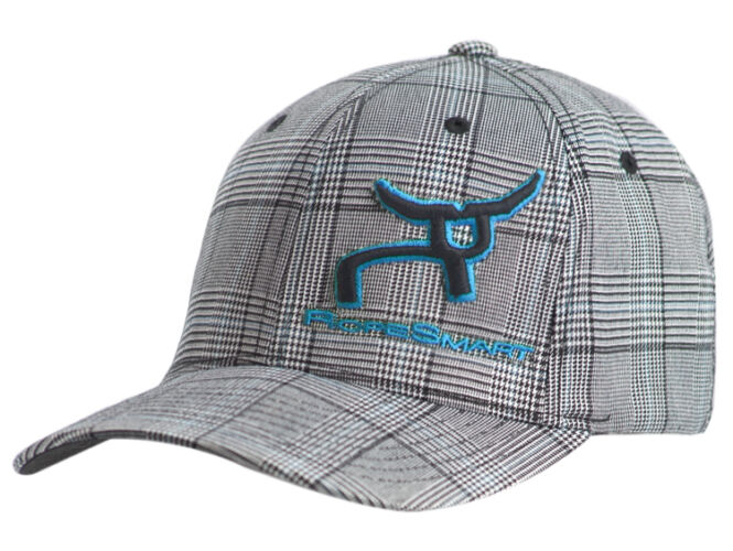 RS Fitted Black & White Plaid – Teal Logo