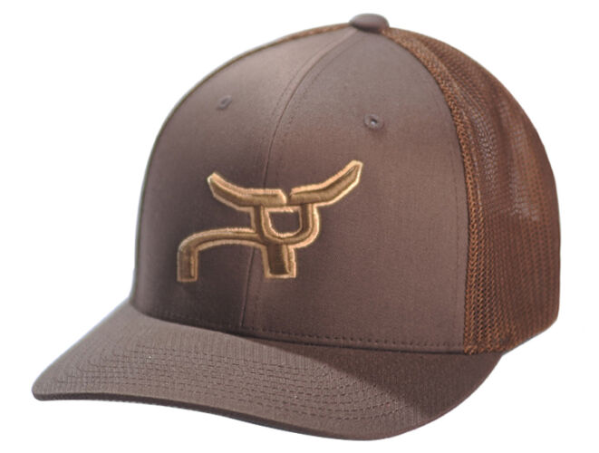 RS All Brown Fitted Cap with Bronze Logo