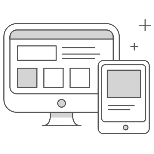 Registration Options Icon - Image shows desktop and mobile