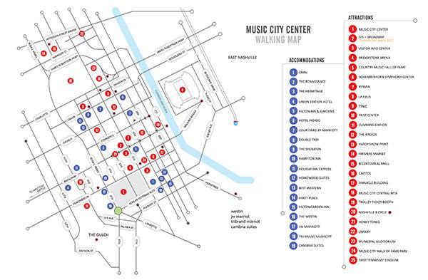 Optometry Academy Meeting Walking Map