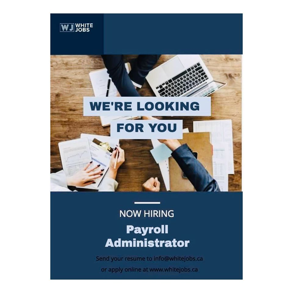 Fill the position of Payroll Administrator