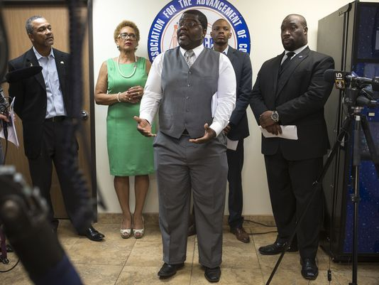 Black leaders on Monday urged Gov. Doug Ducey to remove six U.S. Civil War memorials honoring Confederate soldiers
