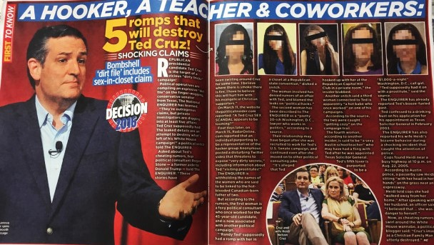TABLOID CLAIMS CRUZ IS A PERVERT