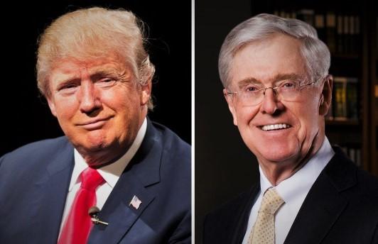 Koch Brothers Say Endorsing Trump Unlikely