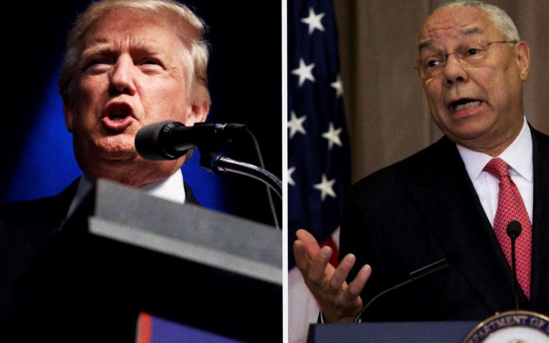 "Powell Calls Trump ""National Disgrace"""
