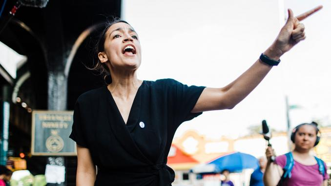 ELECTION 2020:  AOC Makes First Primary Endorsement Worrying Democrats About Circular Firing Squad