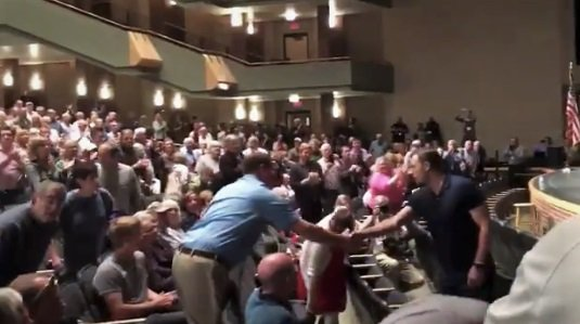 Standing Ovation At Packed Town Hall For GOP Rep Who Called For Trump's Impeachment