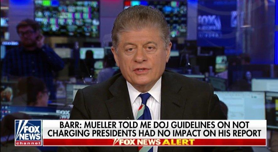 "Mueller's Public Statement ""Not Good News"" For Trump Says Fox News Analyst Napolitano"