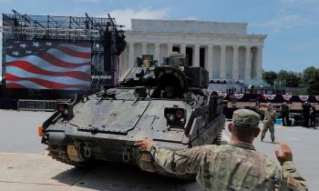 Tanks Arrive At Lincoln Memorial – Trump Ropes Off Iconic Area For 4th Of July VIP Party