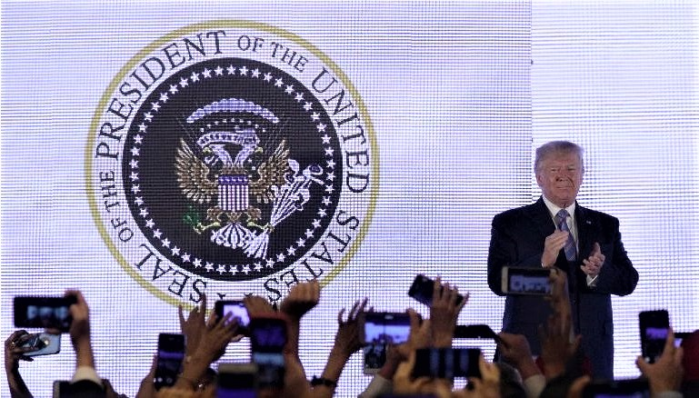 Conservative Aide FIRED After Trump Appears In Front Of Altered Russia-Like Presidential Seal