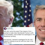 Conservative Radio Host Joe Walsh Announces He's Running Against Trump