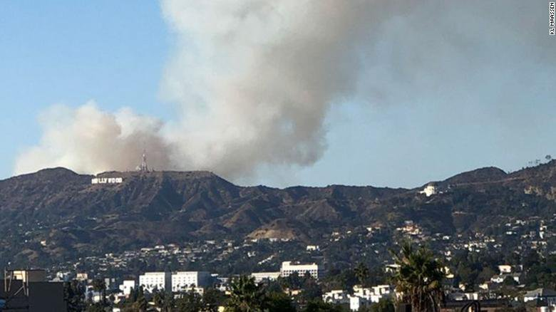 Hollywood ON FIRE- Warner Bros. Studio Evacuated As Smoke Overtakes Area