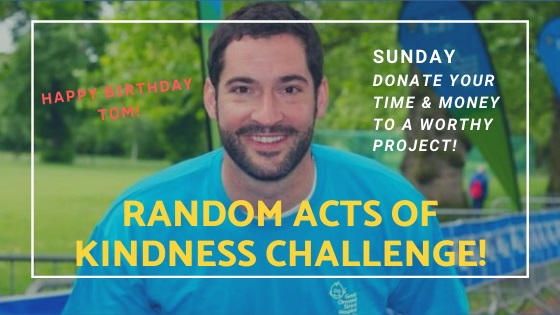 """Tom Ellis Has A Birthday Sunday & Lucifans Are Organizing """"Random Acts of Kindness"""" Challenge"""