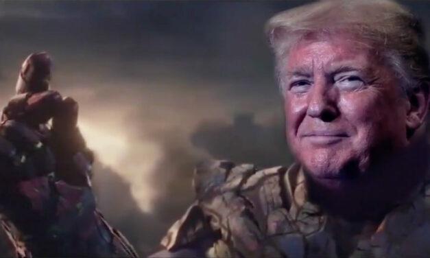 UNBELIEVABLE – Trump Campaign Tweets Video Of Trump As THANOS – Genocidal Villain Who LOST