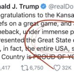 "Unbelievable – Trump Congratulates ""Great State Of Kansas"" For Super Bowl Victory"