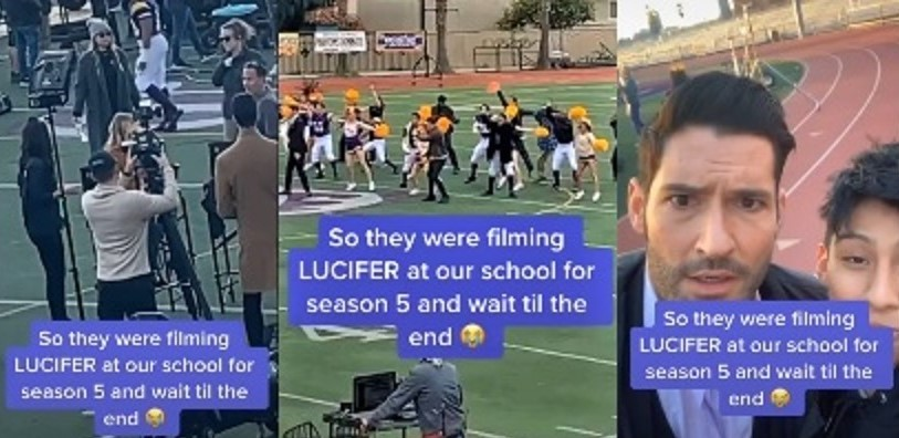 WATCH: Is That Lucifer & Detective Douche DANCING With Players & Cheerleaders?