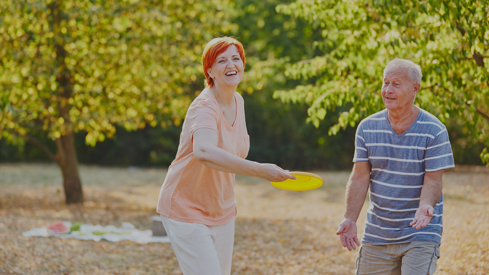 Couple Playing Frisbie