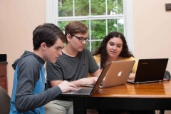 Private-Christian-High-School-Students-near-Burlington-between-Greensboro-NC-working-on-computers