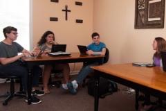 Private-Christian-Highschool-Students-Using-Technology-Between-Burlington-and-Greensboro-NC