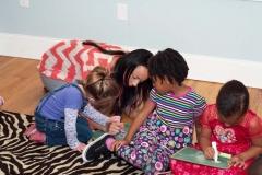 Private-Christian-School-Kindergarten-Class-that-is-Coloring-with-Teacher-between-Burlington-and-Greensboro-NC