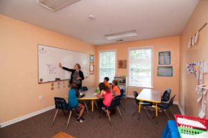Burlington Private Christian Elementary School Students Learning with Teacher