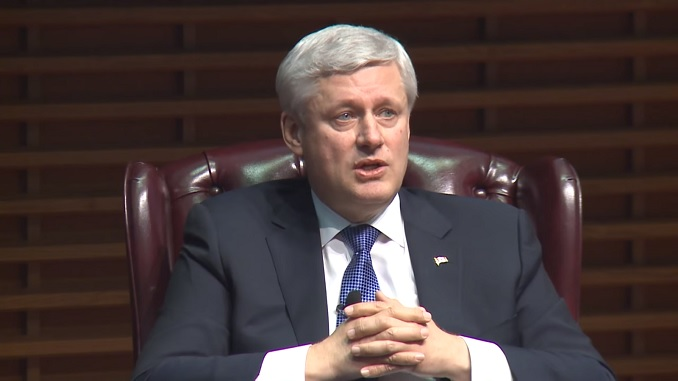 Stephen Harper speaks about Canadian immigration policy versus the US and elsewhere.