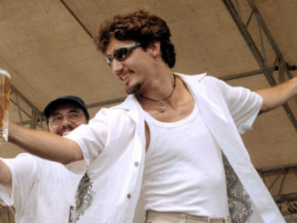 Justin Trudeau in Creston BC in 2000.