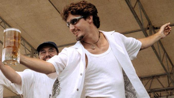Justin Trudeau in Creston BC in 2000.