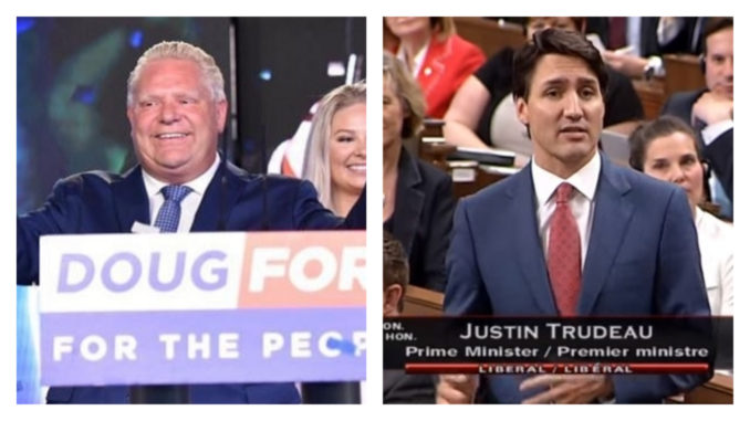 Doug Ford vs Justin Trudeau on gas taxes